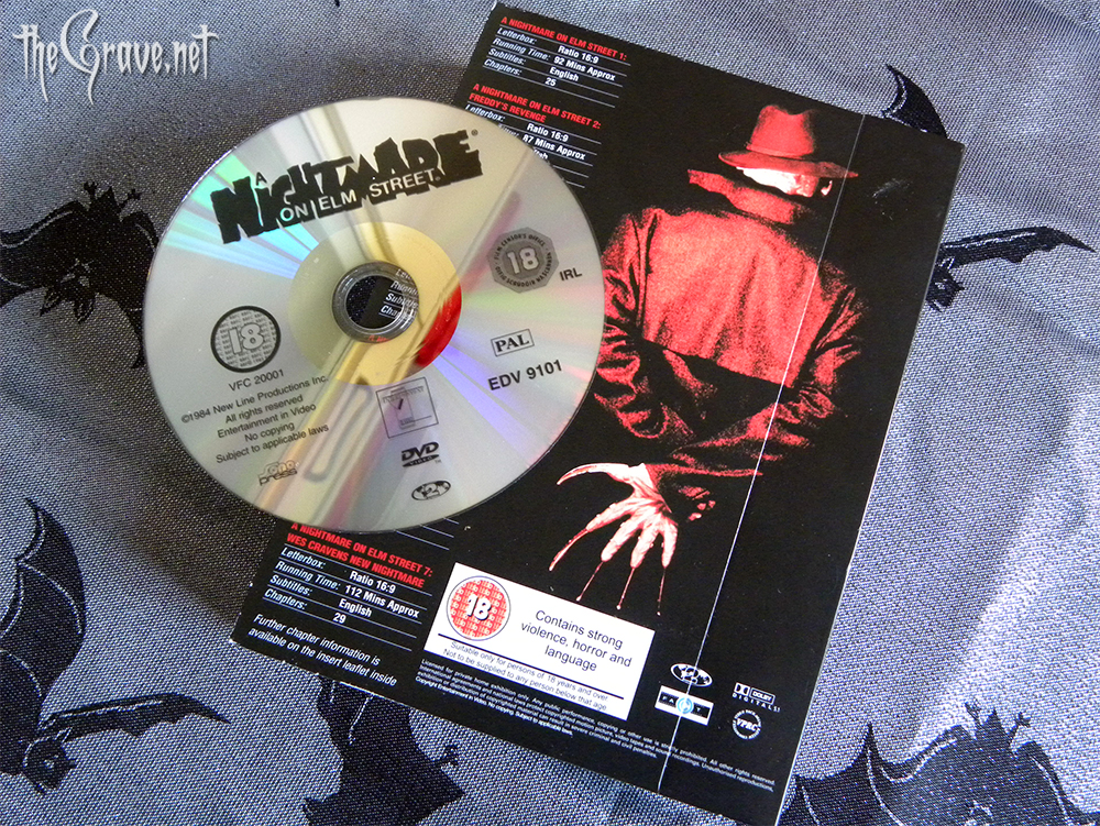 A Nightmare On Elm Street DVD collectors edition back